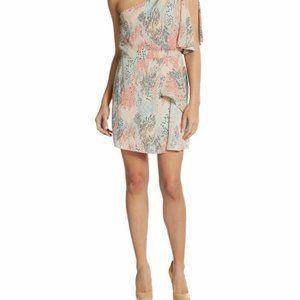 BCBGMAXAZRIA MINA PRINTED ONE-SHOULDER DRESS